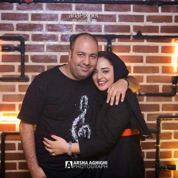 عکس بدون ریش علی اوجی و نرگس محمدی