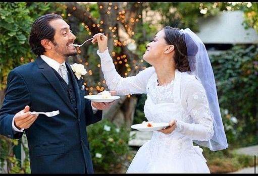 بهرام رادان و همسرش