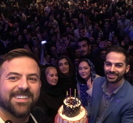 جشن تولد هومن سیدی توسط نیکی کریمی و لیلا زارع