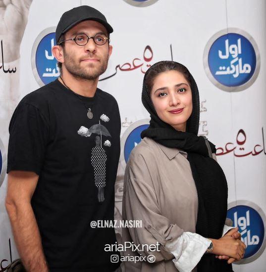مینا ساداتی و همسرش