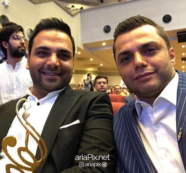 ارش ظلی پور و احسان علیخانی در جشن حافظ