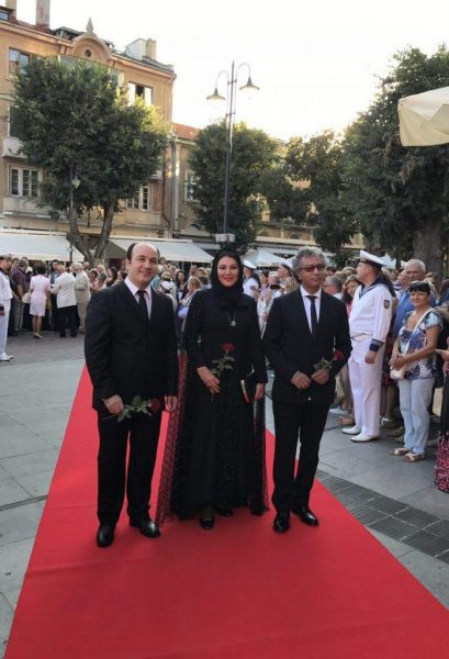 محمدرضا هدایتی و لاله اسکندری بر روی فرش قرمز جشنواره وارنا بلغارستان +عکس