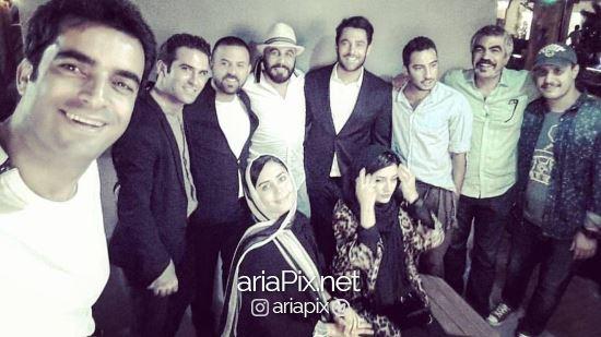 عکس دسته جمعی برندگان جشن حافظ 96 در مراسم اهدای جوایز نقدی شان