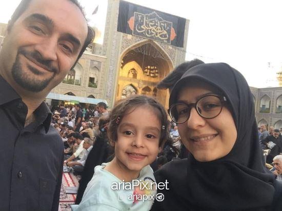 نیما کرمی و دخترش و همسرش