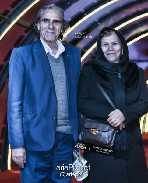 رضا ناجی و همسرش