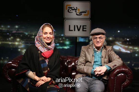 مهناز افشار در کنار فریدون جیرانی در برنامه سی و پنج