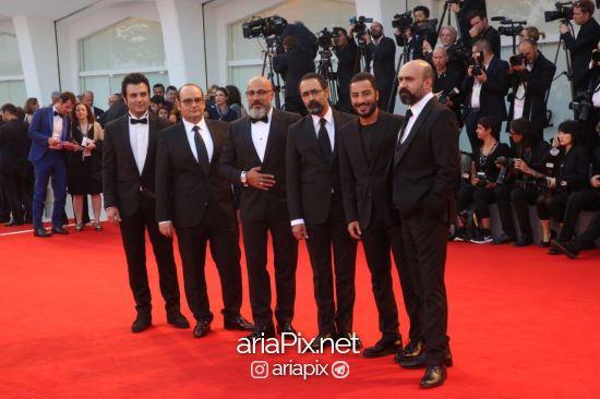 عوامل فیلم بدون تاریخ بدون امضا در مراسم اختتامیه جشنواره فیلم ونیز 2017