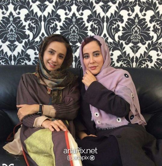 آشا محرابی در کنار شبنم قلی خانی