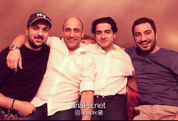 احمد مهرانفر در کنار بازیگران
