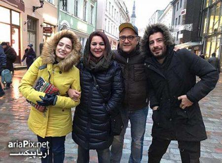 رامبد جوان و نگار جواهریان در کنار نوید محمدزاده و تهمینه میلانی در استونی
