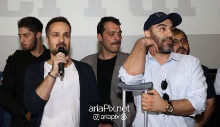 محسن تنابنده و احمد مهرانفر در اکران فیلم فراری