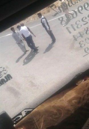 فیلم سیلی زدن مامور پلیس به راننده کامیون افغان