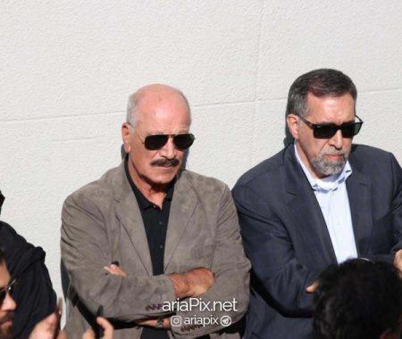 سعید راد در تشییع جنازه ملک مطیعی