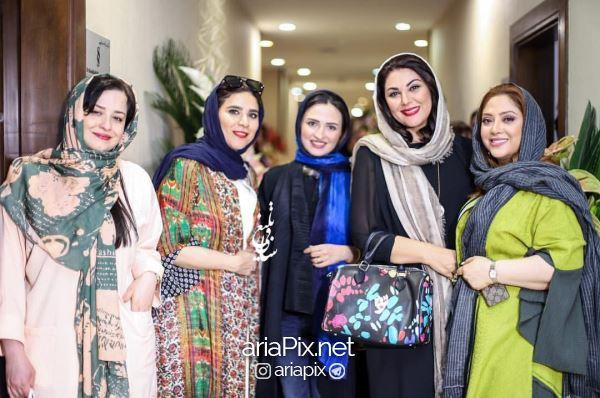 بازیگران زن در افتتاحیه سالن زیبایی مریم سلطانی