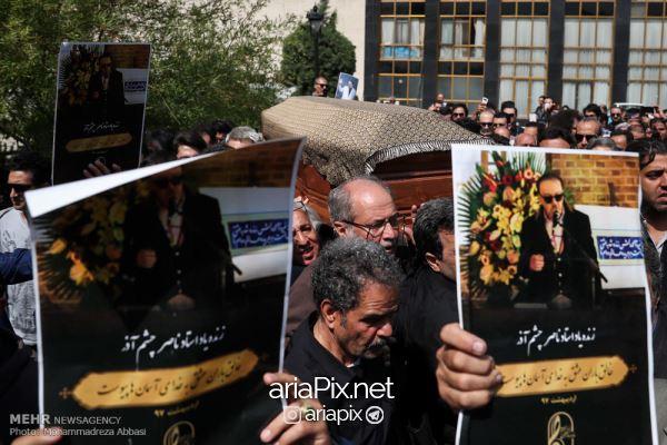 tashei03 - عکسهای مراسم تشییع جنازه ناصر چشم آذر +ویدیو