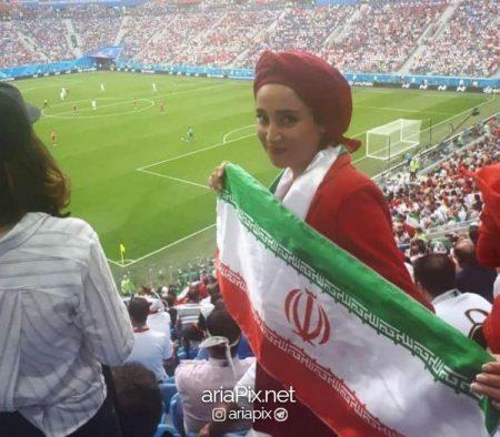 بهاره افشاری در روسیه جام جهانی 2018