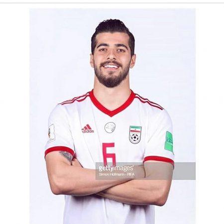 سعید عزت اللهی در پیراهن تیم ملی ایران