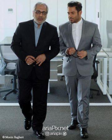 مهران مدیری و محمدرضا گلزار در فیلم رحمان 1400