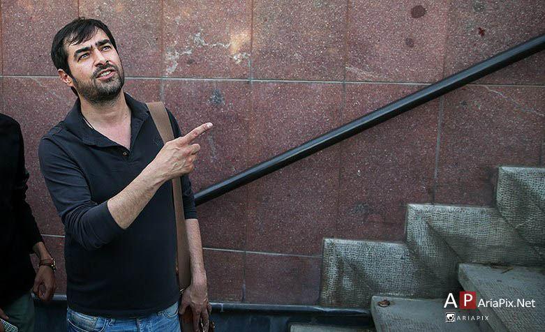شهاب حسینی در مراسم ختم شهید بابایی