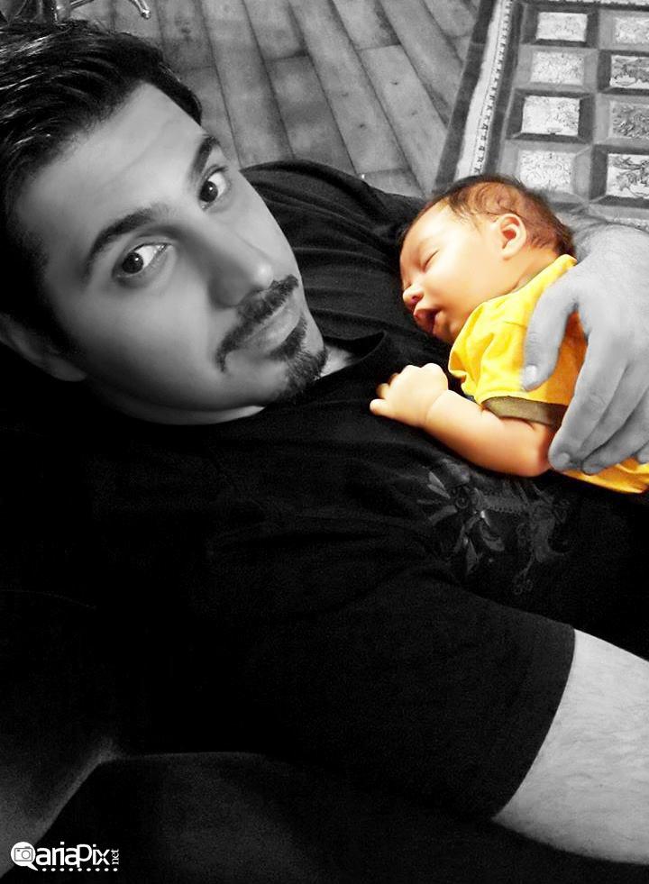 عکس جدیدی از احسان خواجه امیری و پسرش آرشان / تیرماه 93