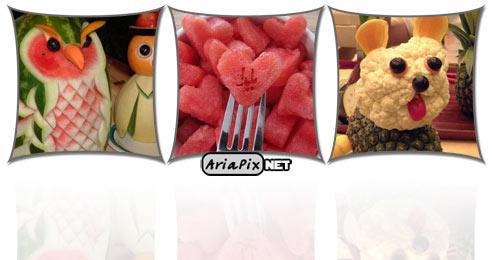 عکس+مدل+تزیین+میوه+برای+شب+یلدا