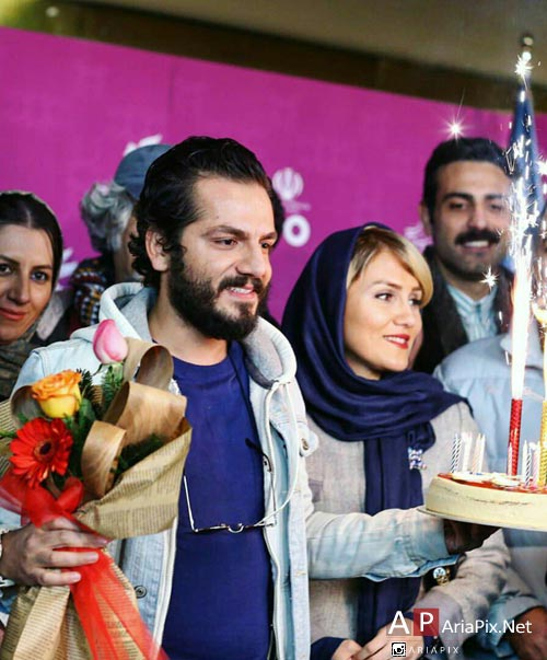 عباس غزالی و همسرش