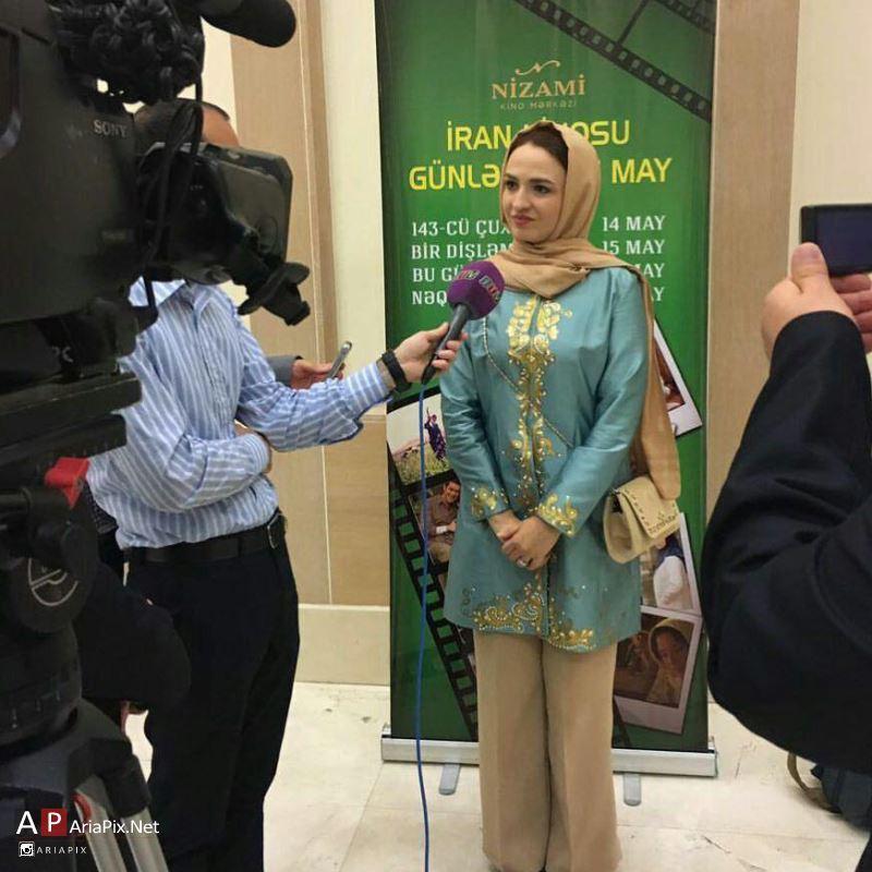 گلاره عباسی در باکو آذربایجان