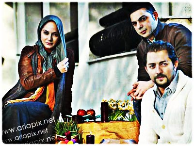 bahram-peiman-mahnaz عکس یادگاری بازیگران ایرانی در سال 92,