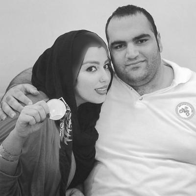 بهداد سلیمی و همسرش
