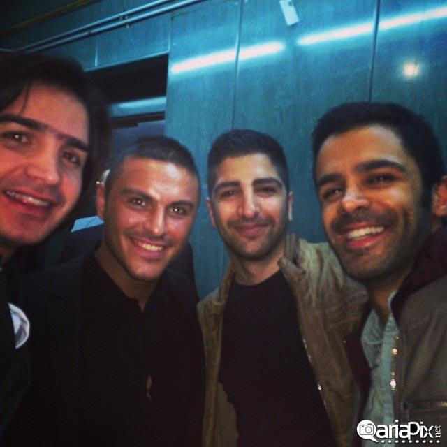 عکس محسن یگانه,سیروان و زانیار خسروی و آرمین 2afm خوانندگان ایرانی در کنسرت مرتضی پاشایی