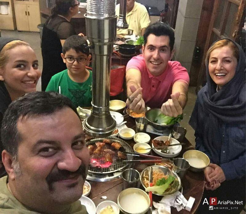 شقایق دهقان و همسرش در چین