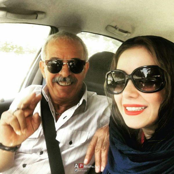 الناز حبیبی و پدرش