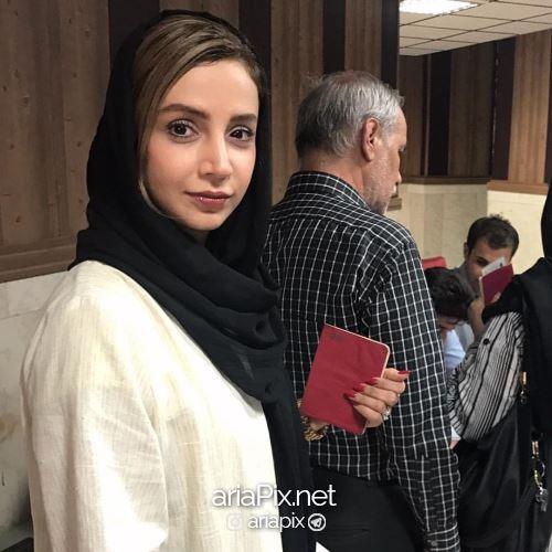 شبنم قلی خانی در صف رای گیری انتخابات