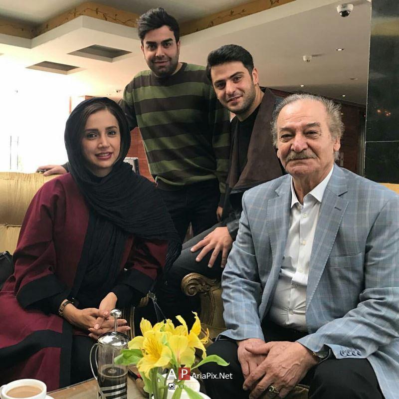 شبنم قلی خانی و سیامک اطلسی پشت صحنه خوشا شیراز