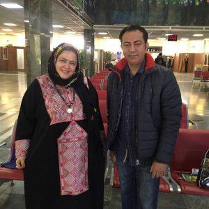 محمدرضا هدایتی و همسرش