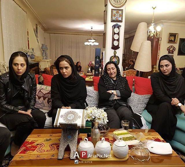 پریناز ایزدیار و مریم معصومی و رعنا آزادی ور در منزل علی معلم برای تسلیت
