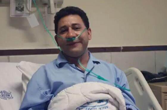 بیماری سروش جمشیدی, سروش جمشیدی در بیمارستان