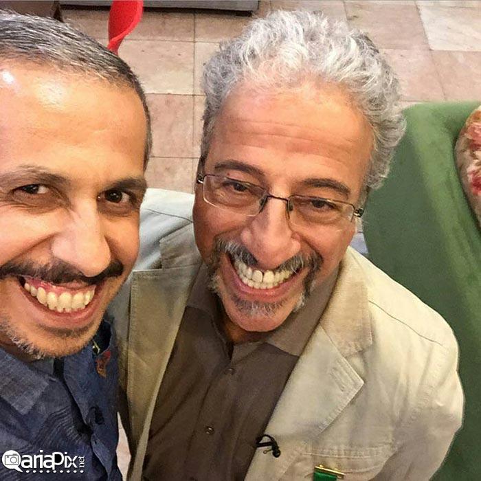 عکس سلفی علیرضا خمسه و جواد رضویان