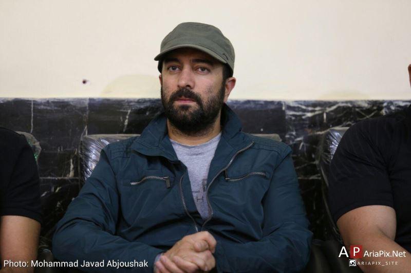 مجید صالحی در مراسم ختم مادر علی مسعودی
