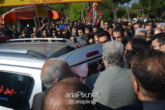 تشییع جنازه عارف لرستانی در زادگاهش کرمانشاه