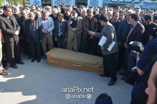 تشییع جنازه عارف لرستانی در کرمانشاه