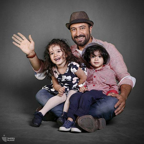 مجید صالحی و فرزندانش