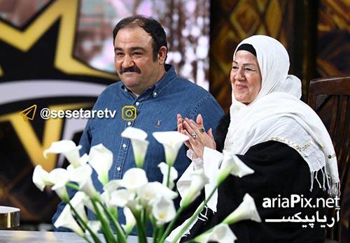مهران غفوریان و مادرش در برنامه سه ستاره