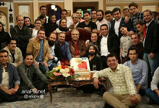 تولد 50 سالگی مهران مدیری ,تولد مهران مدیری در دورهمی +عکس