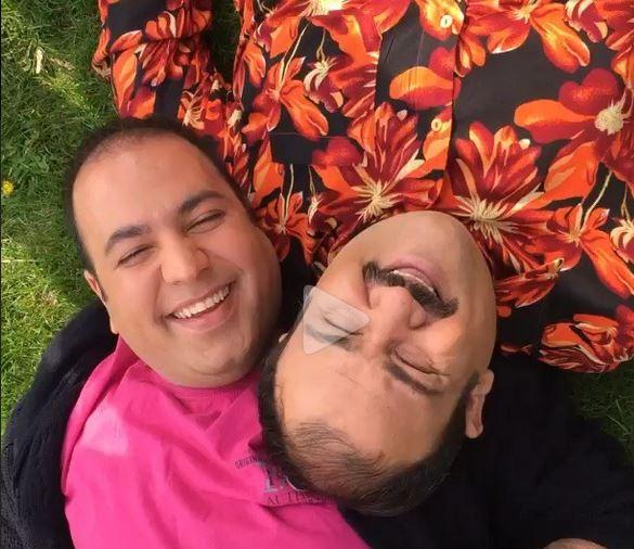 مهران غفوریان و علی اوجی سیزده بدر پشت صحنه در حاشیه