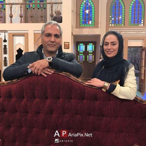سمانه پاکدل و مهران مدیری در برنامه دورهمی