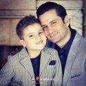 عکسها و بیوگرافی پویا امینی و همسرش و پسرش