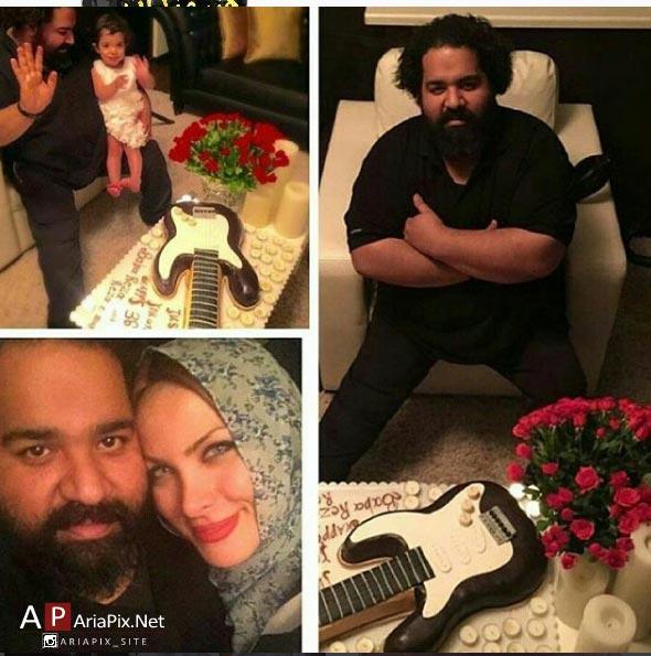 تولد رضا صادقی در کنار همسرش