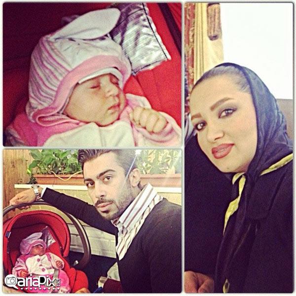 روناک یونسی و همسرش محسن میری و فرزندشان
