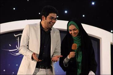فرزاد حسنی و همسرش آزاده نامداری اجرای برنامه سال تحویل 93 شبکه دو